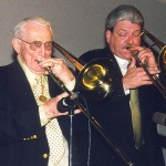 With Spiegle Willcox in Sacramento 1999. He was 96!